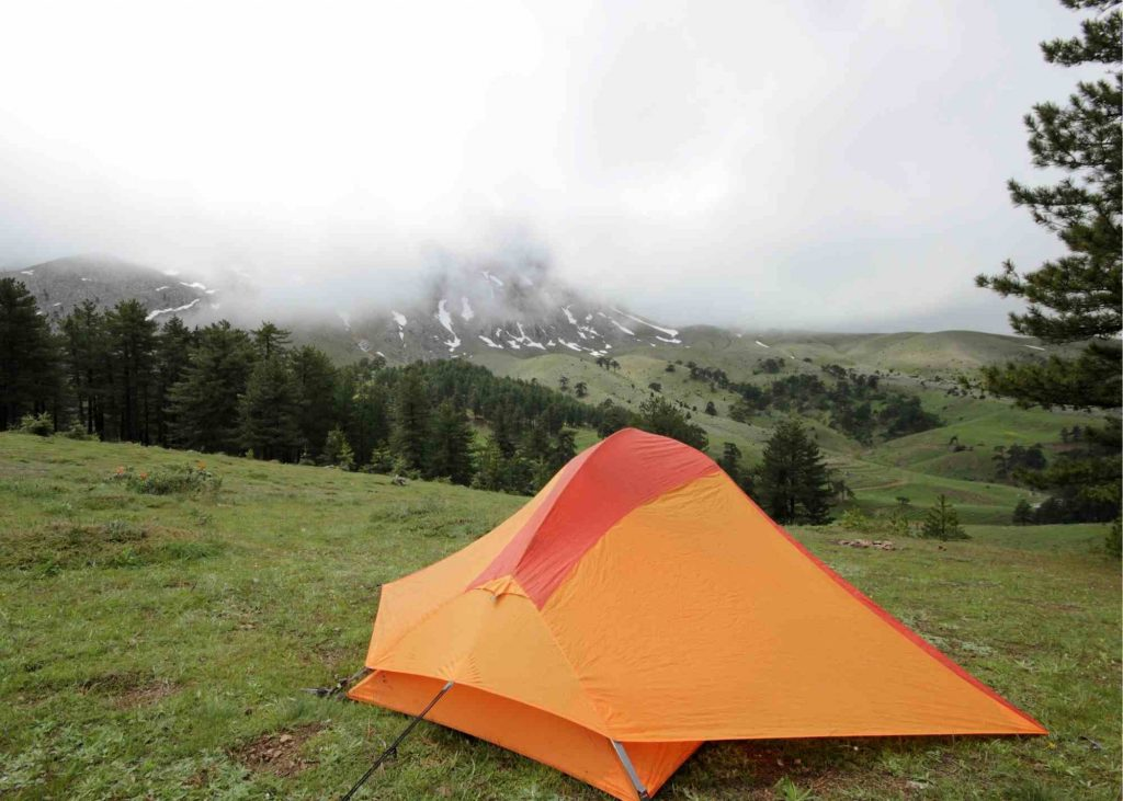mountaintop camping with kids