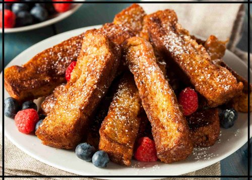 camping french toast sticks