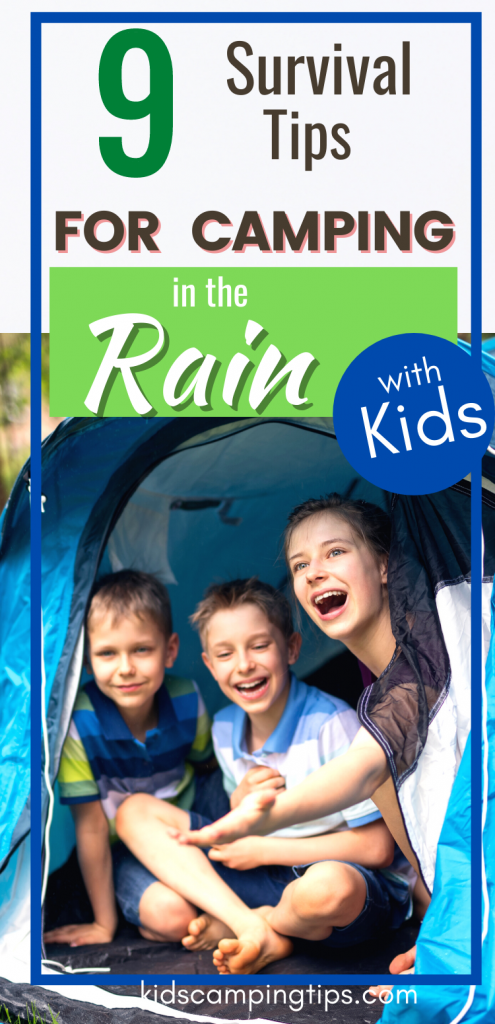 rain camping with kids