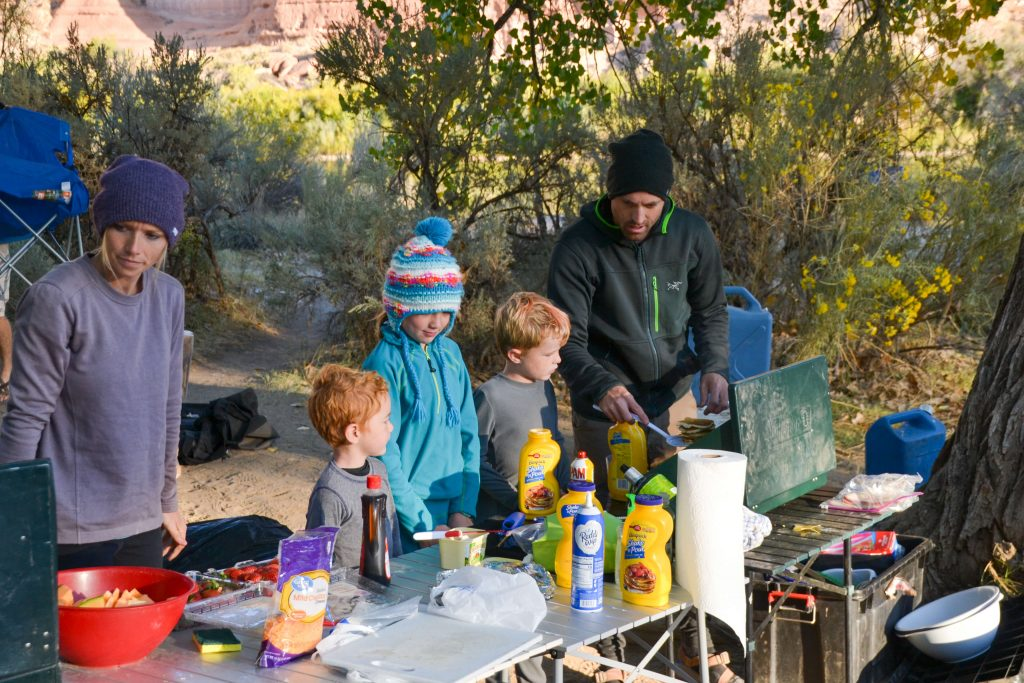 camp breakfast with kids