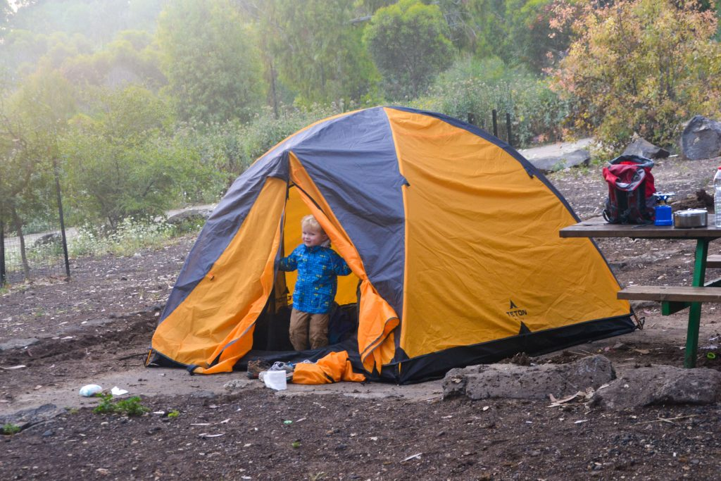 Camping with kids in Israel