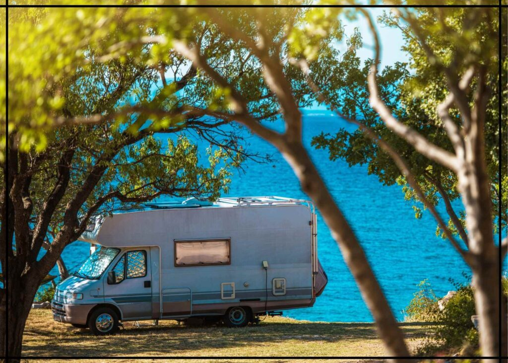 RV parked in shade